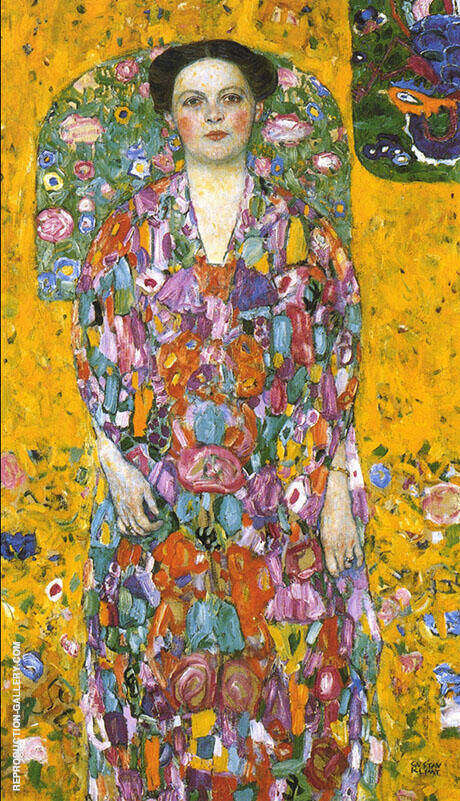Portrait of Eugenia Primavesi 1913 By Gustav Klimt - Oil Paintings & Art Reproductions - Reproduction Gallery