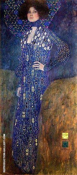 Portrait of Emilie Floge 1902 By Gustav Klimt