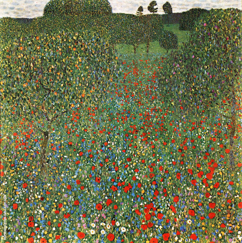 Blooming Field 1909 By Gustav Klimt
