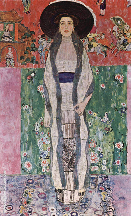 Portrait of Adele Bloch Bauer II 1912 By Gustav Klimt - Oil Paintings & Art Reproductions - Reproduction Gallery