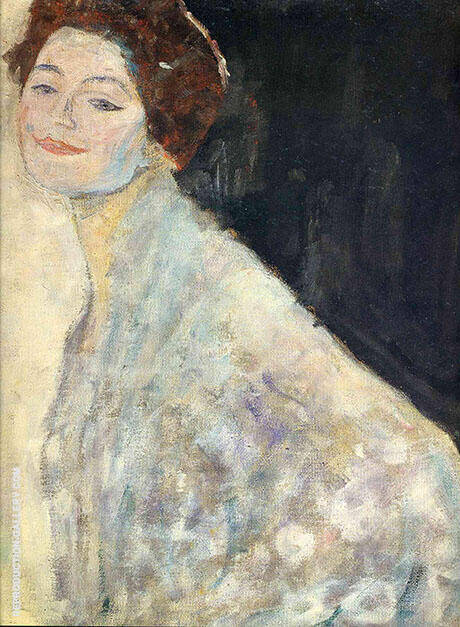 Portrait of a Lady in White c 1917 By Gustav Klimt