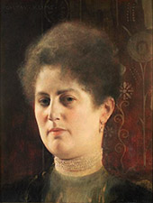 Portrait of a Lady Frau Heymann 1894 By Gustav Klimt