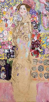 Portrait of Maria Munk 19187 (unfinished) By Gustav Klimt