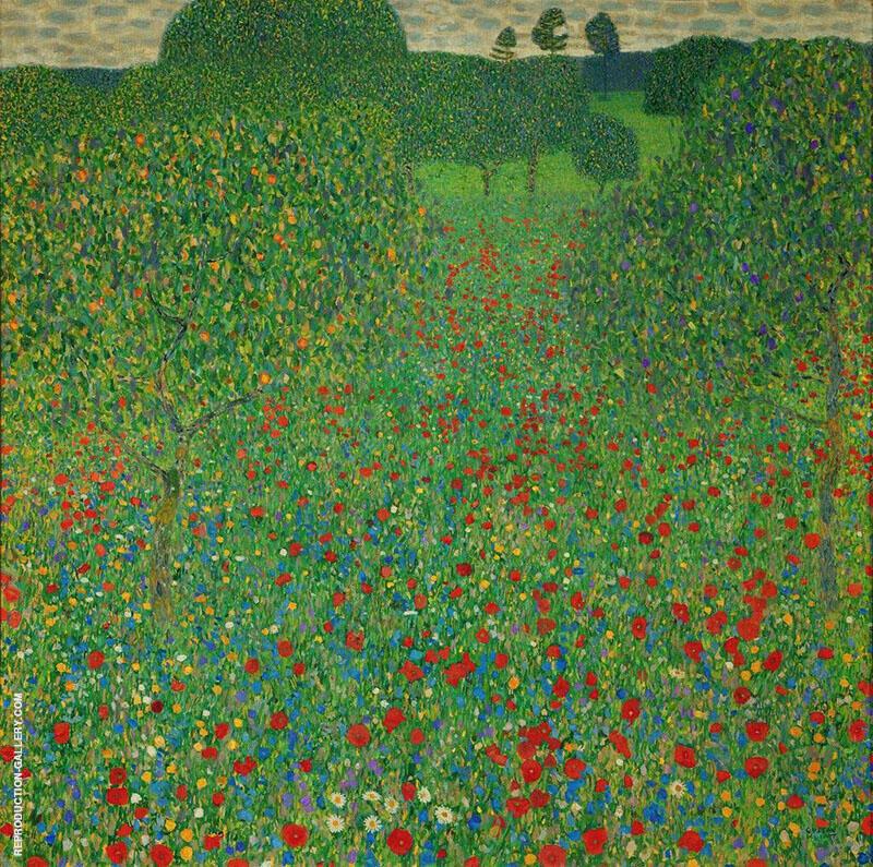 Poppy Field 1907 By Gustav Klimt