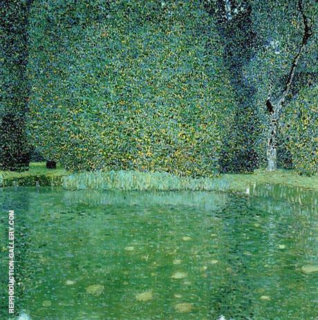 Pond at Schloss Kammer on the Attersee 1909 By Gustav Klimt