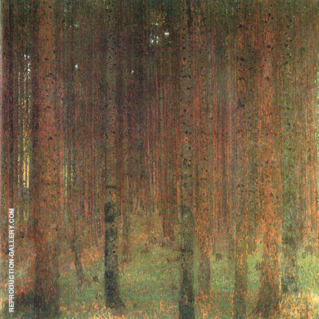 Pine Forest II 1901 By Gustav Klimt