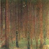 Pine Forest II 1901 By Gustav Klimt