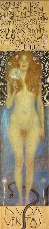 Nuda Veritas 1899 By Gustav Klimt