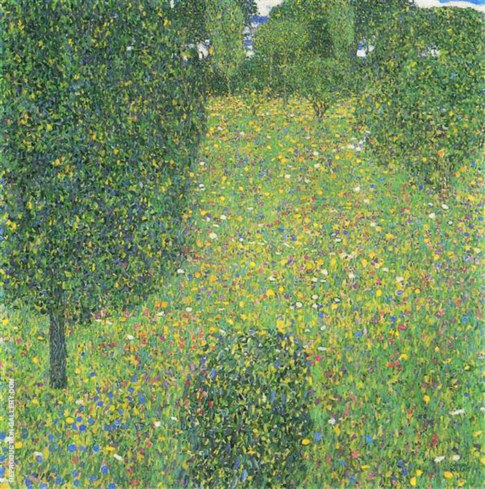 Landscape Garden Meadow in Flower 1906 By Gustav Klimt