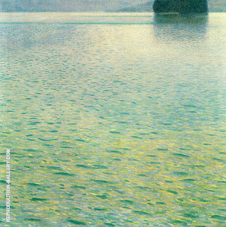 Island in Lake Attersee 1901 By Gustav Klimt