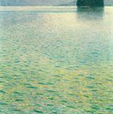 Island in Lake Attersee 1901 By Gustav Klimt