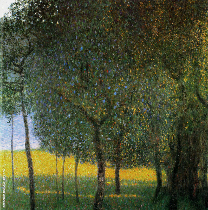 Fruit Tree by the Lake-1902 By Gustav Klimt