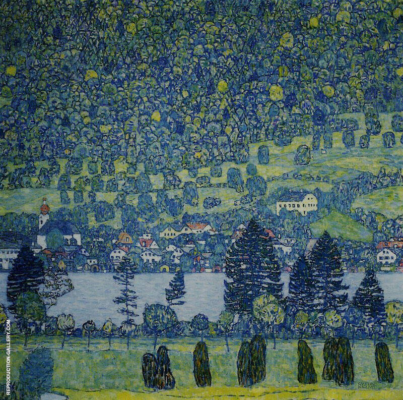 Forest Slope Unterach on the Attersee 1916 By Gustav Klimt