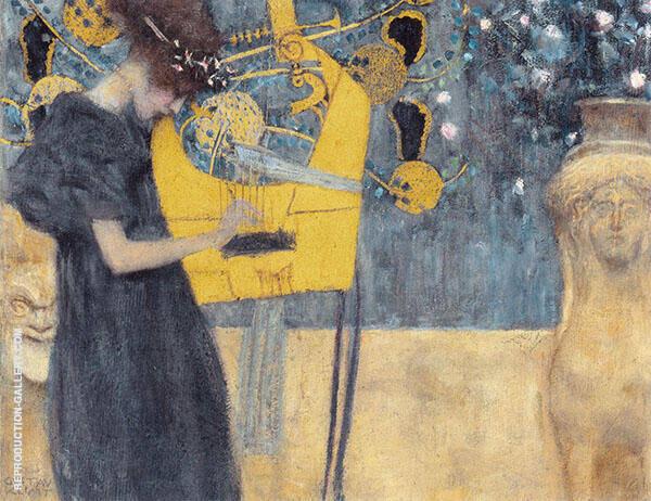 Music I 1895 By Gustav Klimt