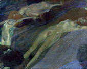 Moving Water 1898 By Gustav Klimt