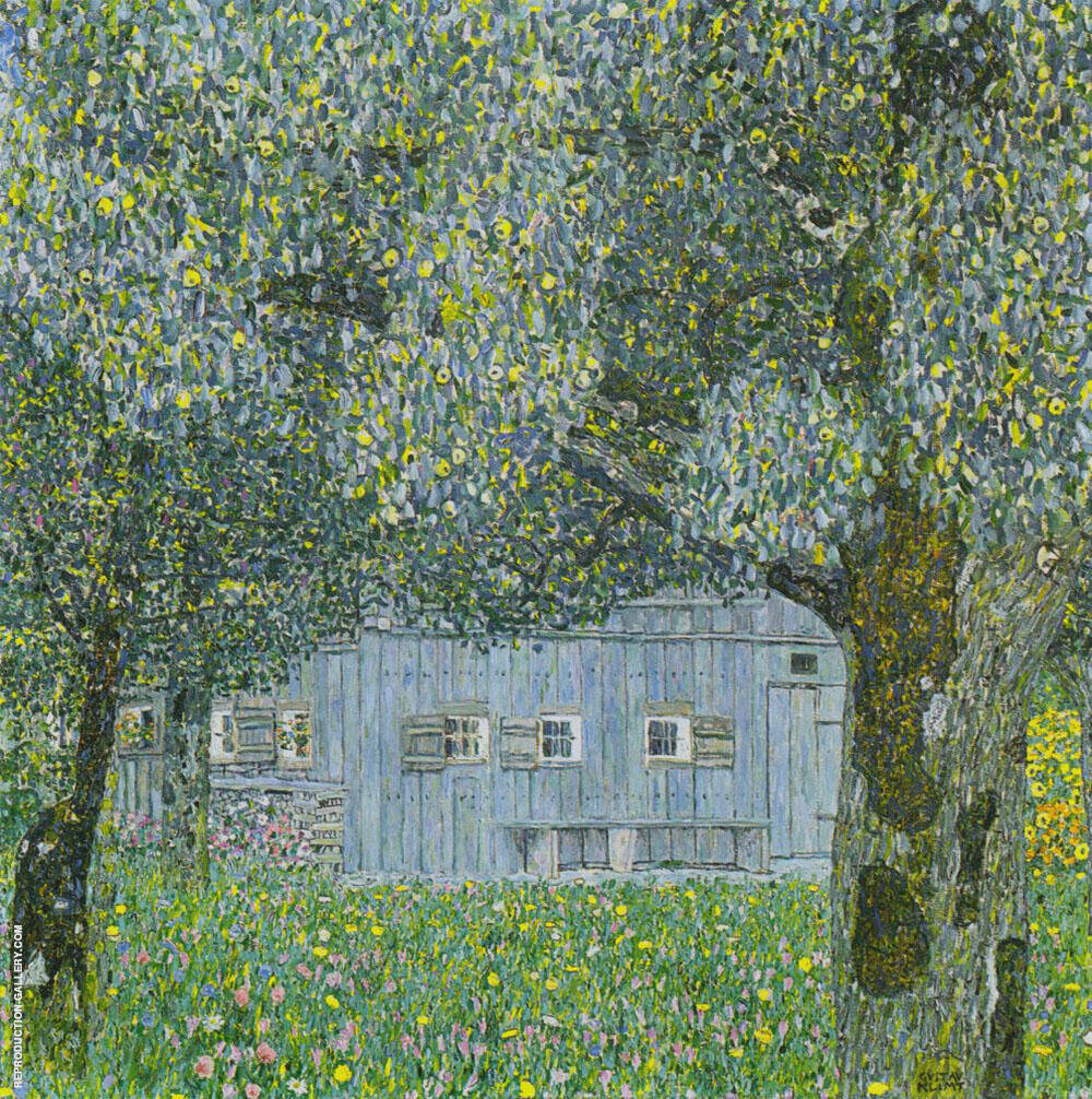 Farmhouse in Upper Austria 1911 By Gustav Klimt