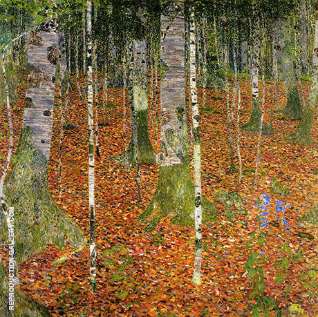 Birch Wood 1903 By Gustav Klimt
