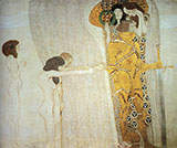 The Beethoven Frieze The Longing for Happiness Left Wall 1902 By Gustav Klimt