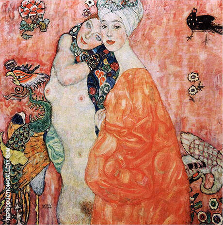The Girl Friends 1907 By Gustav Klimt - Oil Paintings & Art Reproductions - Reproduction Gallery