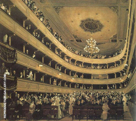 Auditorium of the Old Burgtheater 1888 By Gustav Klimt