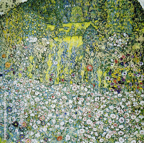 Garden Landscape with Hilltop 1916 By Gustav Klimt - Oil Paintings & Art Reproductions - Reproduction Gallery