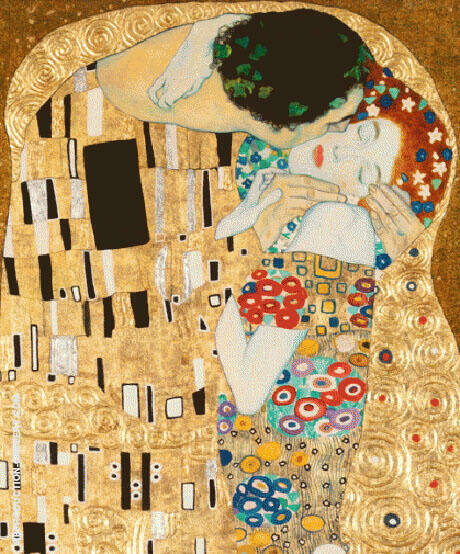 Kiss Detail c1907 By Gustav Klimt