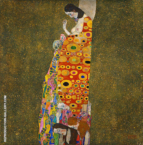 Hope II c1907 By Gustav Klimt