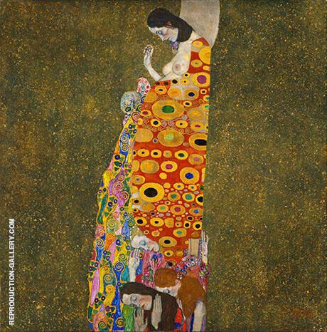 Hope II c1907 By Gustav Klimt