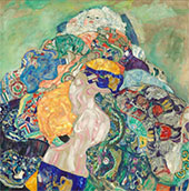 Baby (Cradle) c1917 By Gustav Klimt