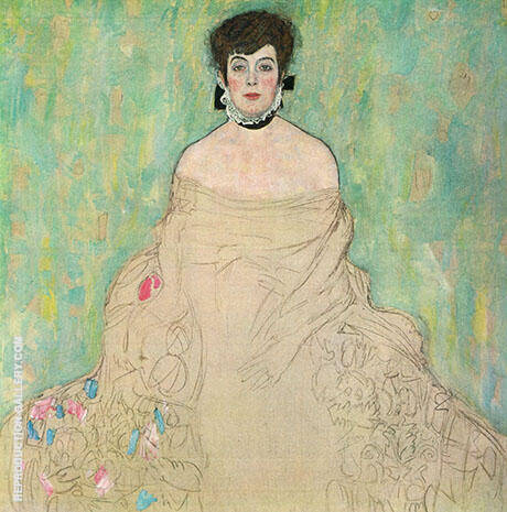 Amalie Zuckerkandl 1917 Painting By Gustav Klimt - Reproduction Gallery