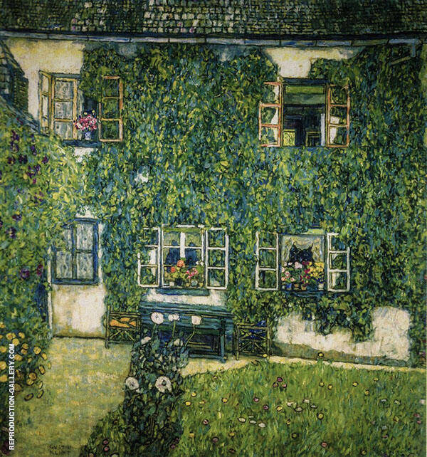 Forests House in Weissenbach on the Attersee 1914 By Gustav Klimt