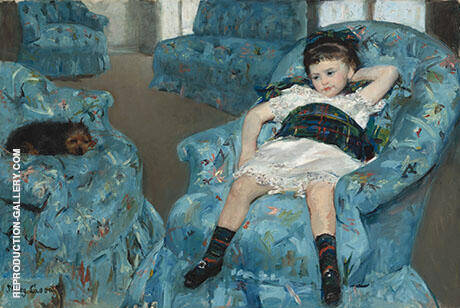 Little Girl in a Blue Armchair 1878 By Mary Cassatt