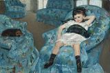 Little Girl in a Blue Armchair 1878 By Mary Cassatt