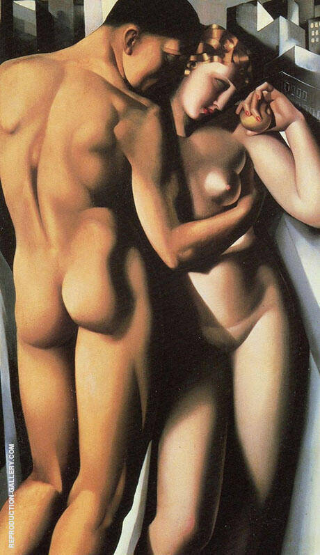 Adam and Eve 1932 Painting By Tamara de Lempicka - Reproduction Gallery