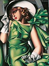 Girl in Green Dress 1930 By Tamara de Lempicka