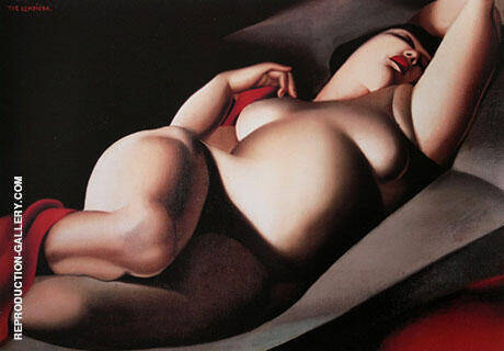 Reproduction of Beautiful Rafaela 1917 by Tamara de Lempicka | Oil Painting Replica On CanvasReproduction Gallery