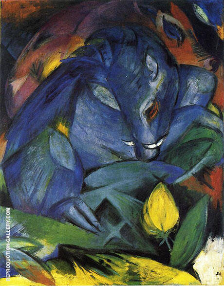 Wild Pigs Boar and Sow 1913 By Franz Marc