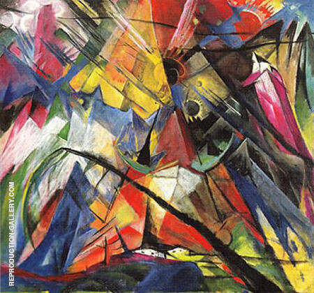 Tyrol 1913 By Franz Marc - Oil Paintings & Art Reproductions - Reproduction Gallery