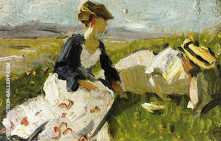 Two Women on the Hillside Sketch 1906 By Franz Marc