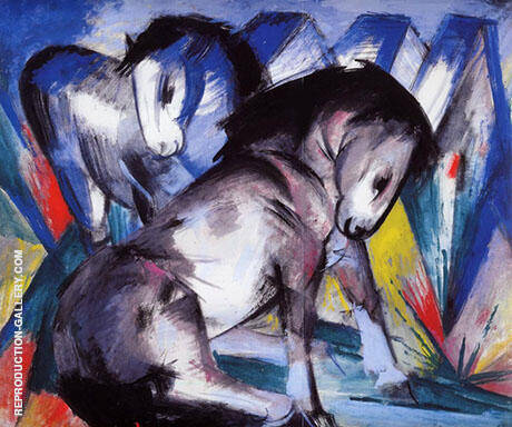 Two Horses 1913 By Franz Marc