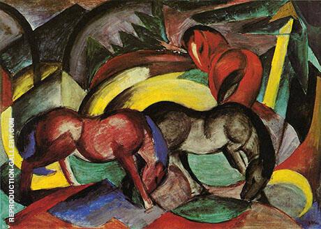 Three Horses 1912 By Franz Marc