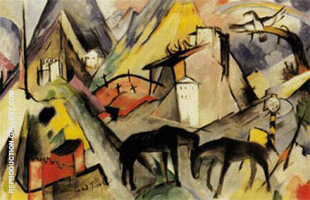 The Poor Land of Tyrol 1913 By Franz Marc