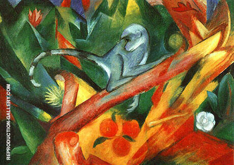 The Monkey 1912 By Franz Marc