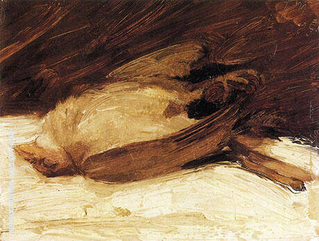 The Dead Sparrow 1905 By Franz Marc