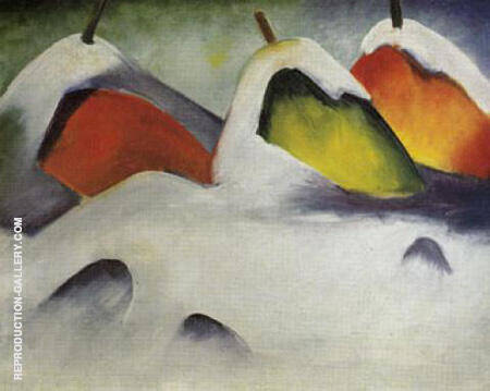 Stooks in the Snow 1911 Painting By Franz Marc - Reproduction Gallery