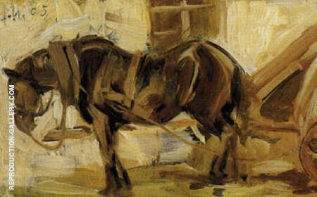 Small Horse Study II 1905 By Franz Marc