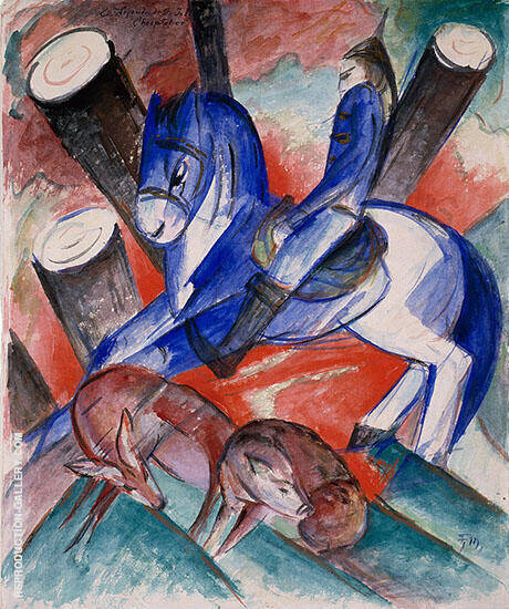 St. Julien l'Hospitalier 1913 Painting By Franz Marc
