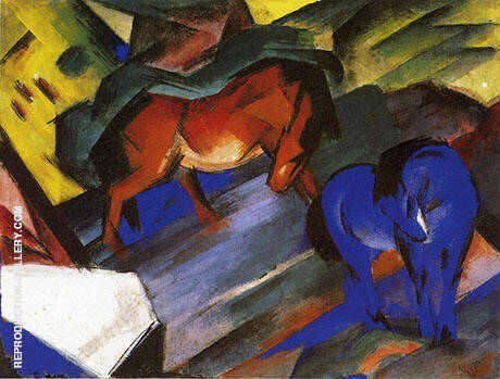 Red and Blue Horse 1912 By Franz Marc