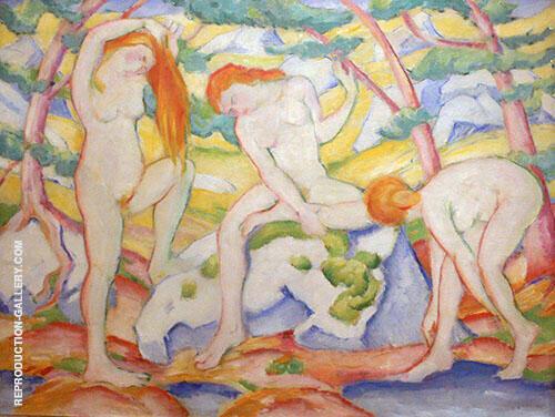 Bathing Girls 1910 By Franz Marc