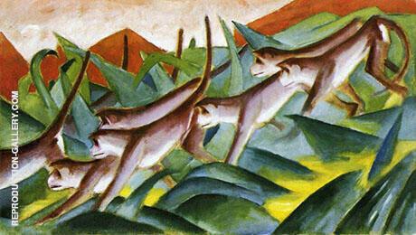 Monkey Frieze 1911 By Franz Marc